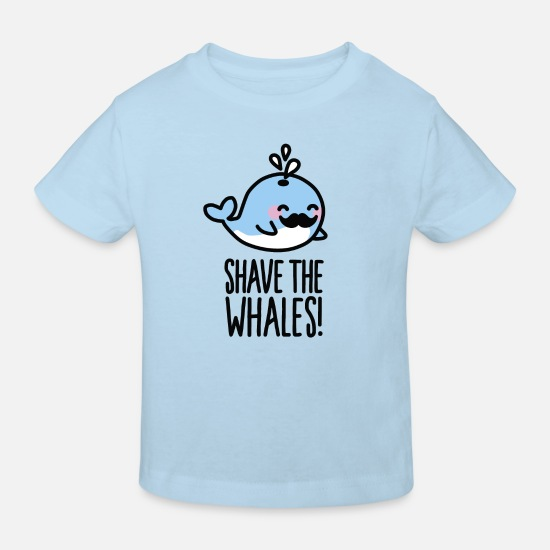 Beard Baby Clothes - Shave the whales! - Kids' Organic T-Shirt light blue