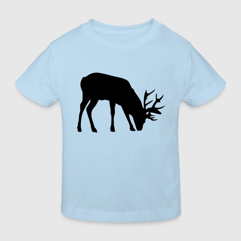cerf deer silhouette ombre shadow3 - Camiseta ecológica niño
