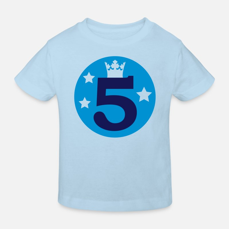 Girl T-Shirts - I am 5 years old! - Kids' Organic T-Shirt light blue