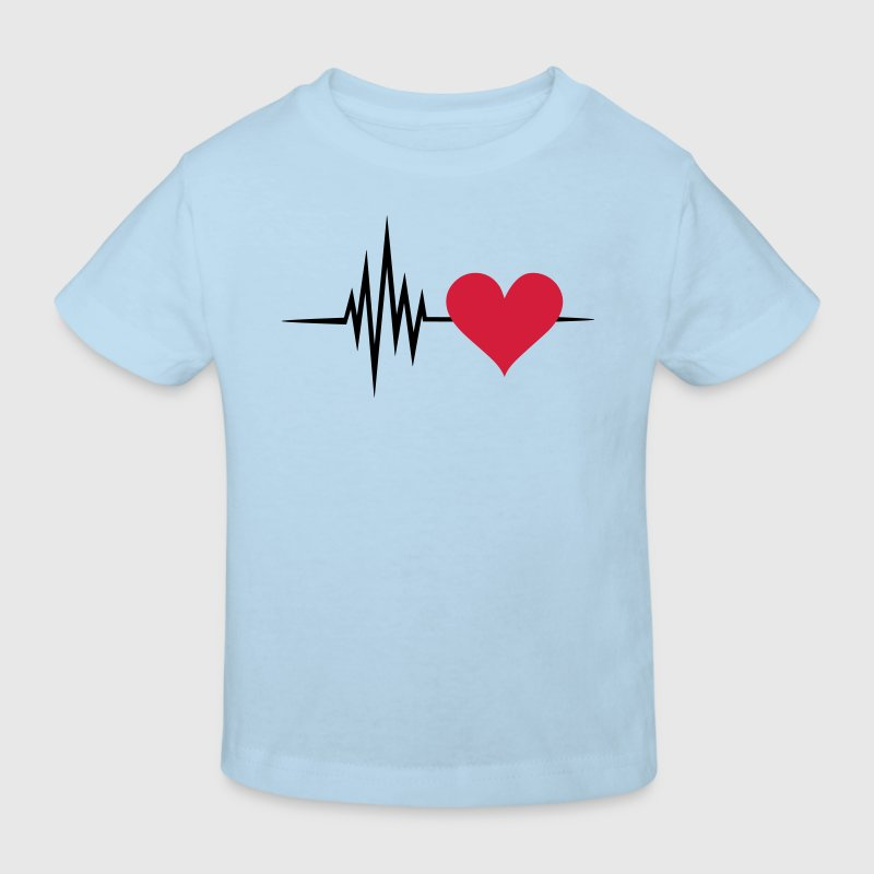 Pulse, frequency, heartbeat, I Love you heart rate - Kids' Organic T-shirt