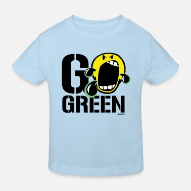 SmileyWorld Go Green - Kids' Organic T-Shirt