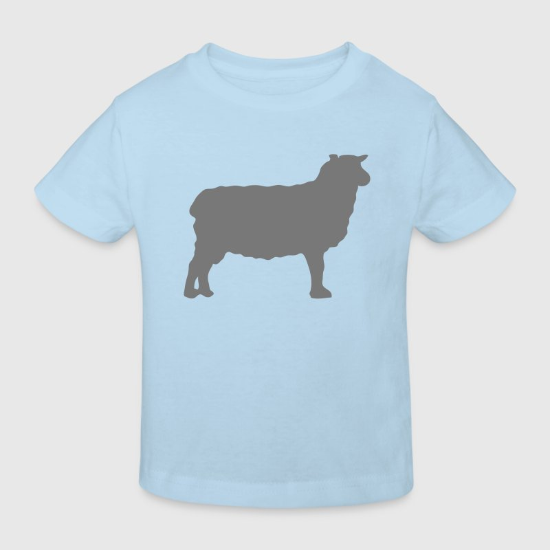 mouton sheep silhouette ombre shadow2 - Kinder Bio-T-Shirt
