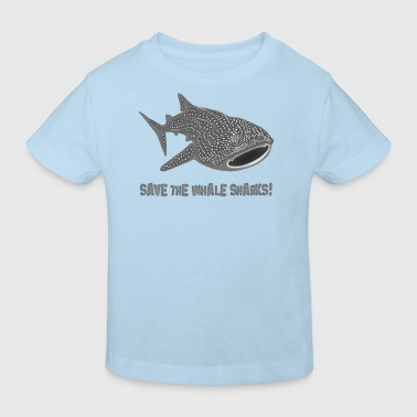save the whale shark sharks fish dive diver diving endangered species - Kids' Organic T-shirt