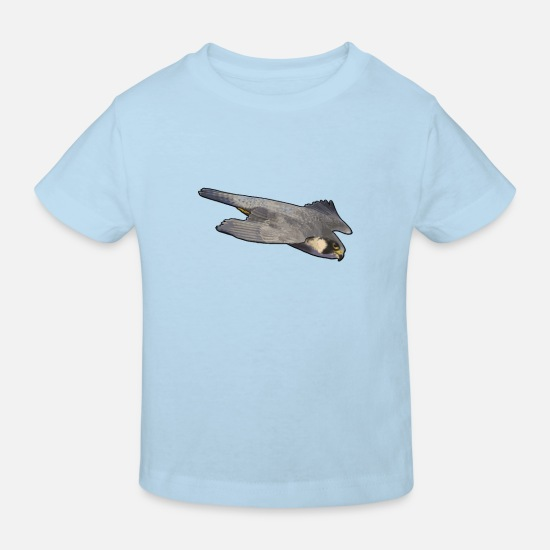 Falcon Baby Clothes - peregrine falcon - Kids' Organic T-Shirt light blue
