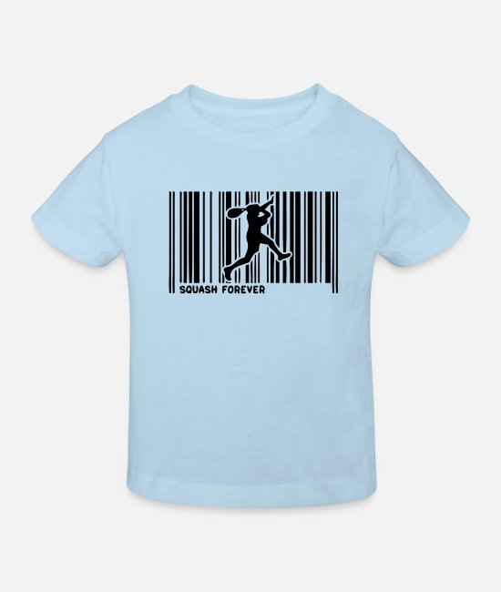 Bar Baby Clothes - squash sports bar code men1 - Kids' Organic T-Shirt light blue