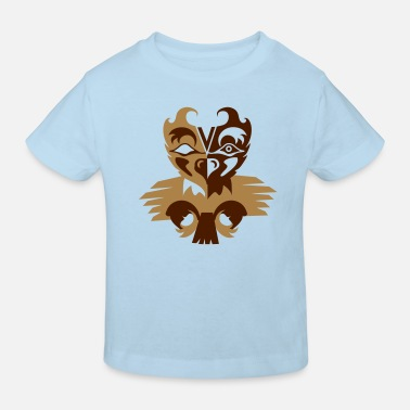 Indian Symbols Indian eagle symbol - Kids' Organic T-Shirt
