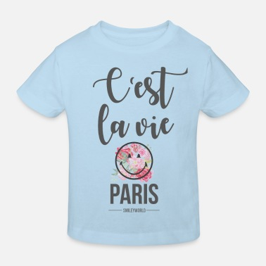 Emoji SmileyWorld Paris C'Est La Vie - Kinder Bio T-Shirt