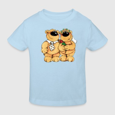Wedding Bears - Camiseta ecológica niño