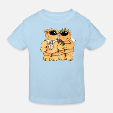 Wedding Wedding Bears - Camiseta ecológica niño