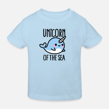 Narwal Unicorn of the sea - Kinderen Bio-T-shirt