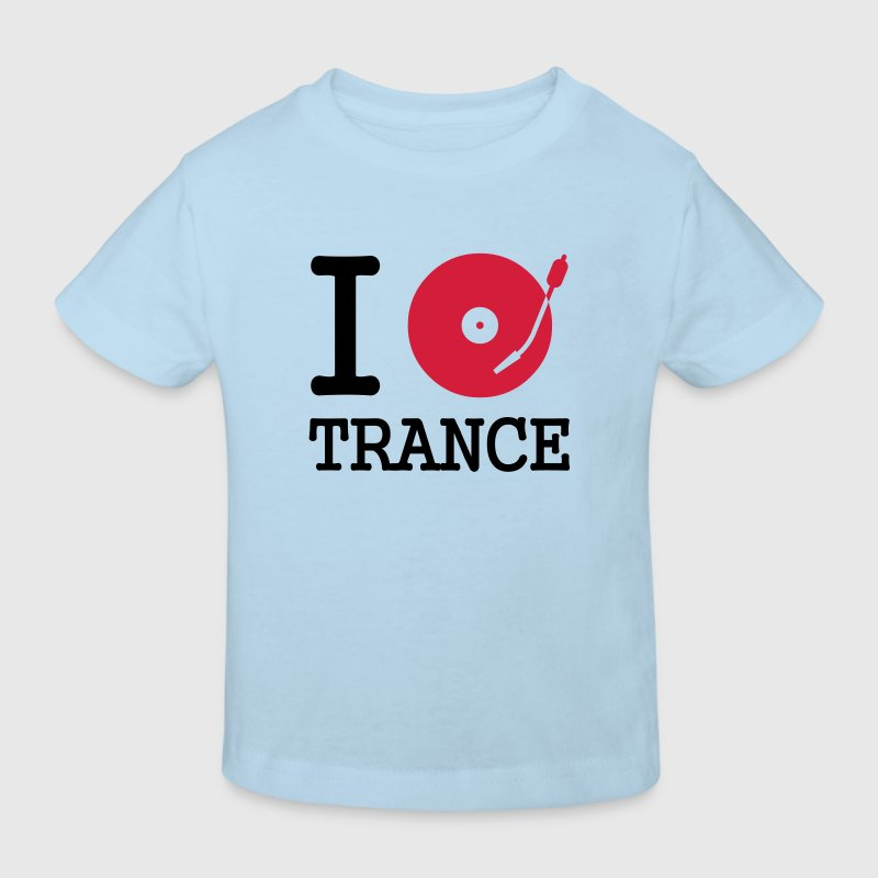 I dj / play / listen to trance - Økologisk T-skjorte for barn