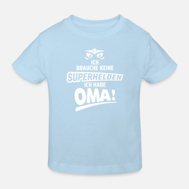 Babybody superheldin oma  - Kinder Bio-T-Shirt
