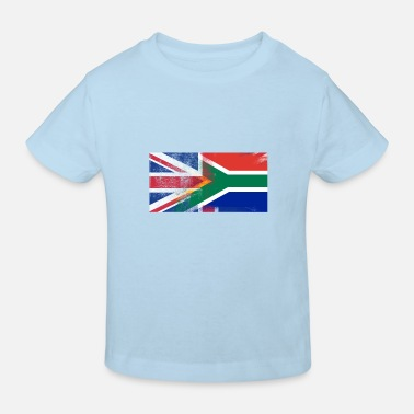 Africa British South African Half South Africa Half UK Fl - Kids' Organic T-Shirt