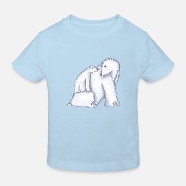 Polar bear familie - Kinderen bio T-shirt