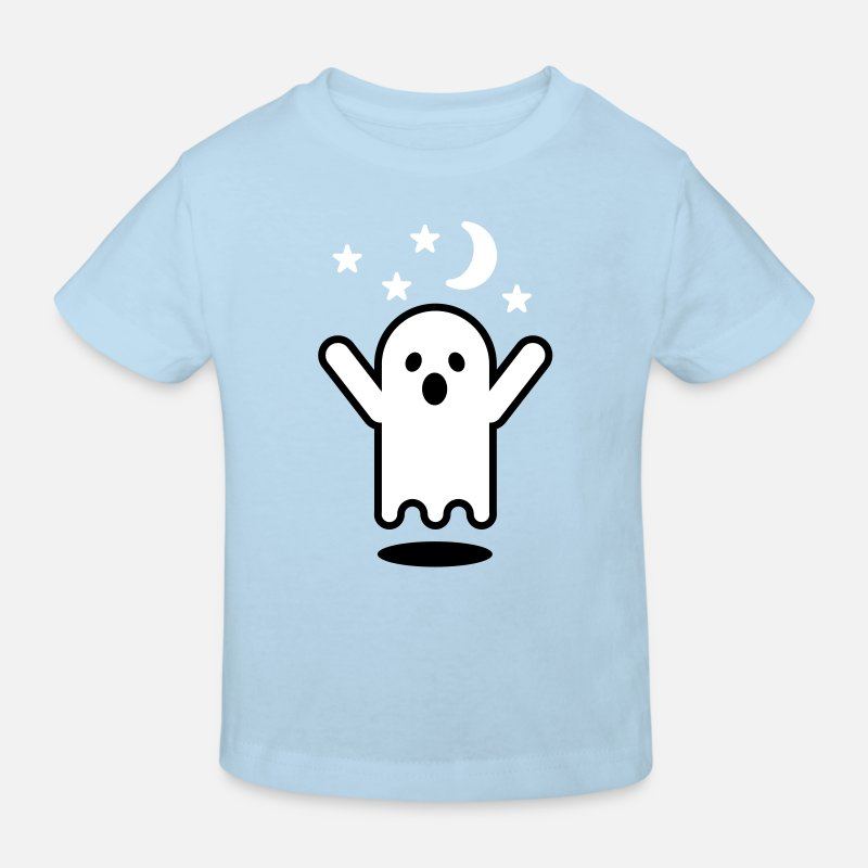Dark T-Shirts - Glow in the dark ghost - Kinderen bio T-shirt celeste