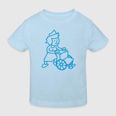 nurse_with_wheelchair - Kinderen Bio-T-shirt
