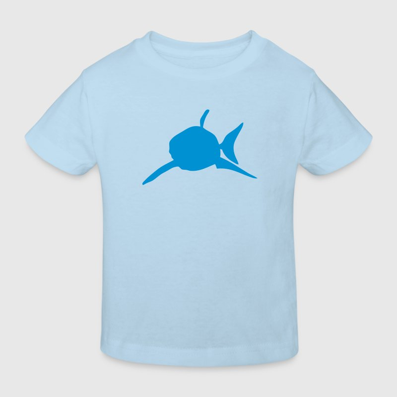 requin shark silhouette ombre shadow2 - Kinder Bio-T-Shirt