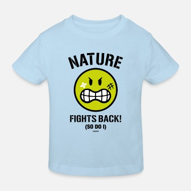 SmileyWorld Nature Fights Back! - Kids' Organic T-Shirt
