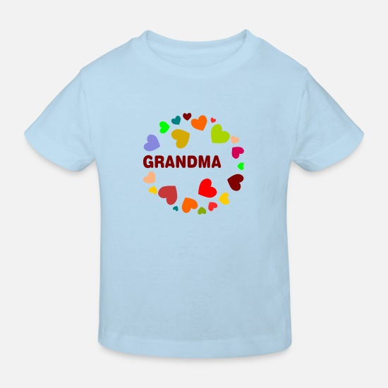 Adult Baby Clothes - Grandma - Kids' Organic T-Shirt light blue