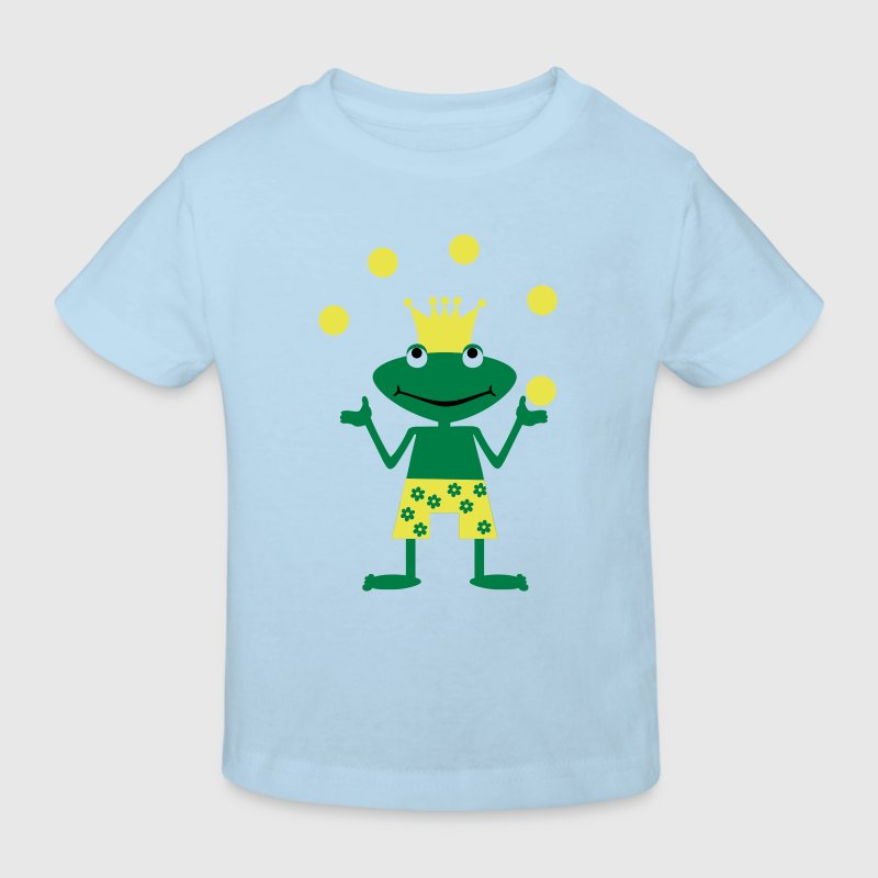 Frog, amphibian, toad, king, prince, kiss, fairytale, summer, water, swimming, swimming trunks, ench - Kinder Bio-T-Shirt