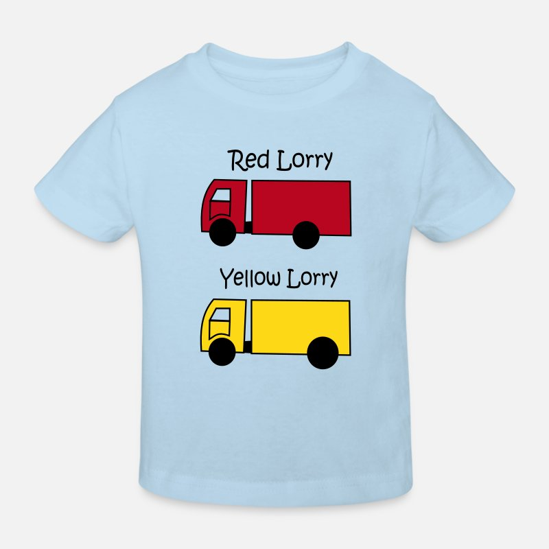 Red T-Shirts - Red Lorry Yellow Lorry - Kids' Organic T-Shirt light blue