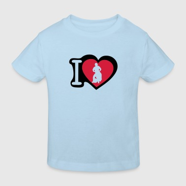love coeur heart motoball1 - T-shirt bio Enfant