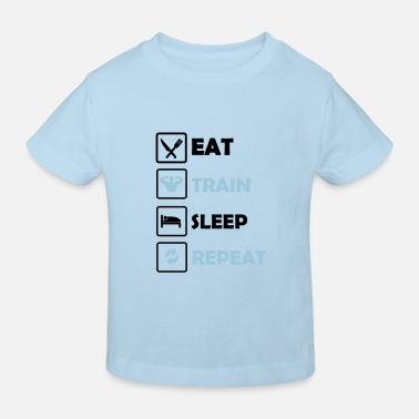 Hijs- Eat Train Sleep Repeat 2 - Kinderen bio T-shirt