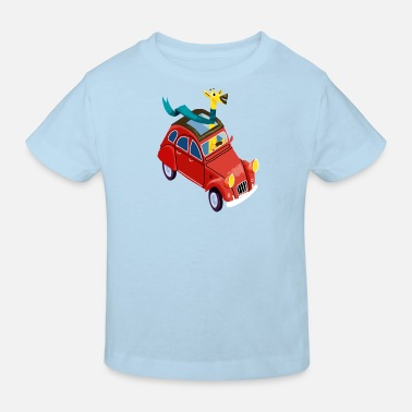 Fordon Giraffe in the car - Ekologisk T-shirt barn