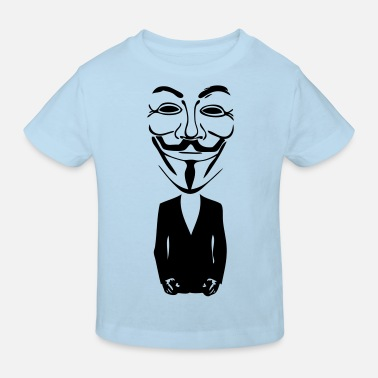 Anonymous anonymous mask masque5 - T-shirt bio Enfant