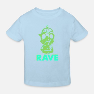 rave gas mask - Kids' Organic T-Shirt