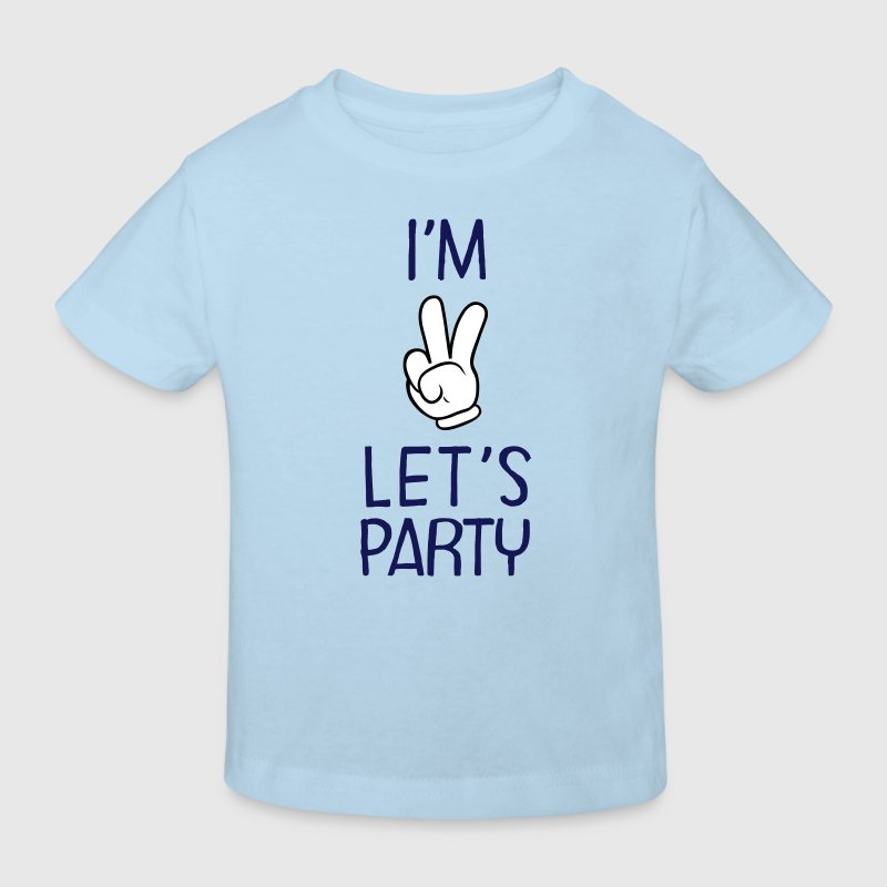 I\'m Two - Let\'s Party - Maglietta ecologica per bambini