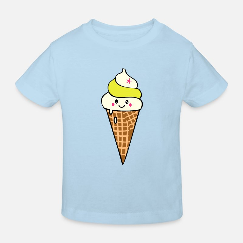 Eis T-Shirts - Ice cream - Kinder Bio T-Shirt Hellblau