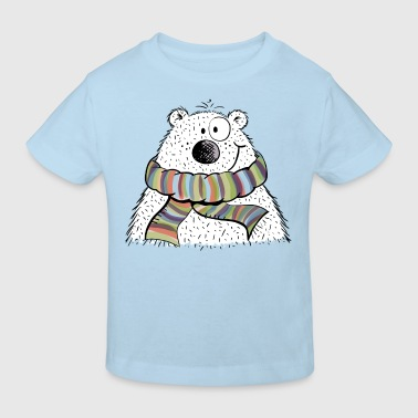 Litte Polar Baer In The Winter - Kids' Organic T-shirt
