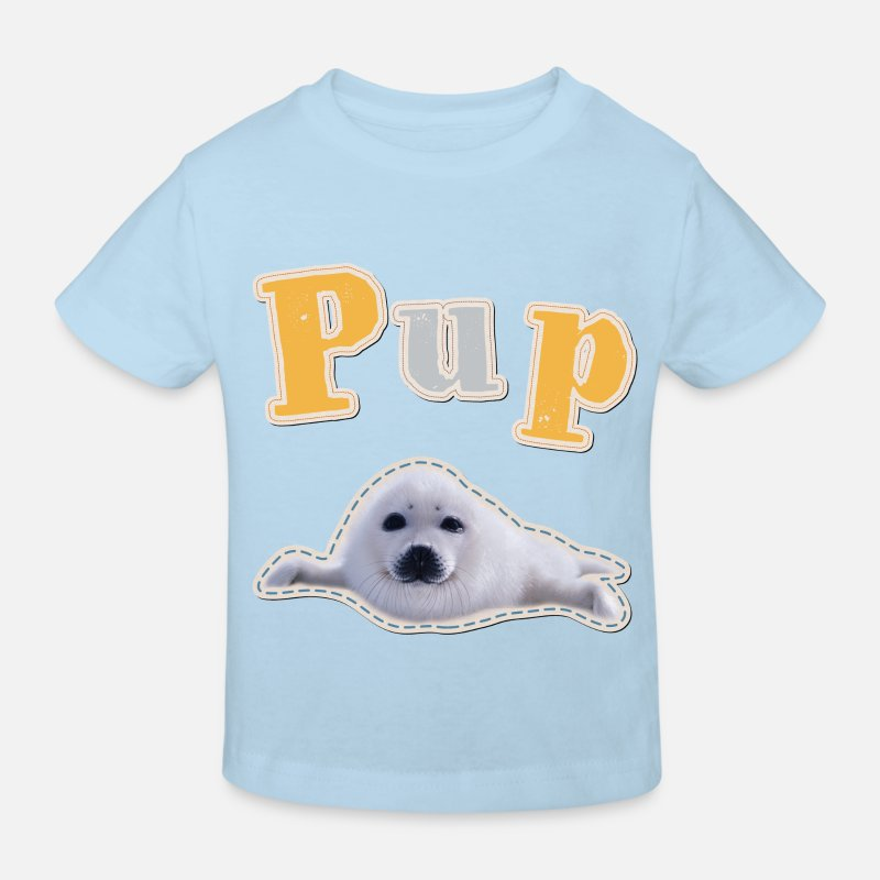 Animal Planet Seal Kid's T-Shirt Kids' Organic T-Shirt - light blue