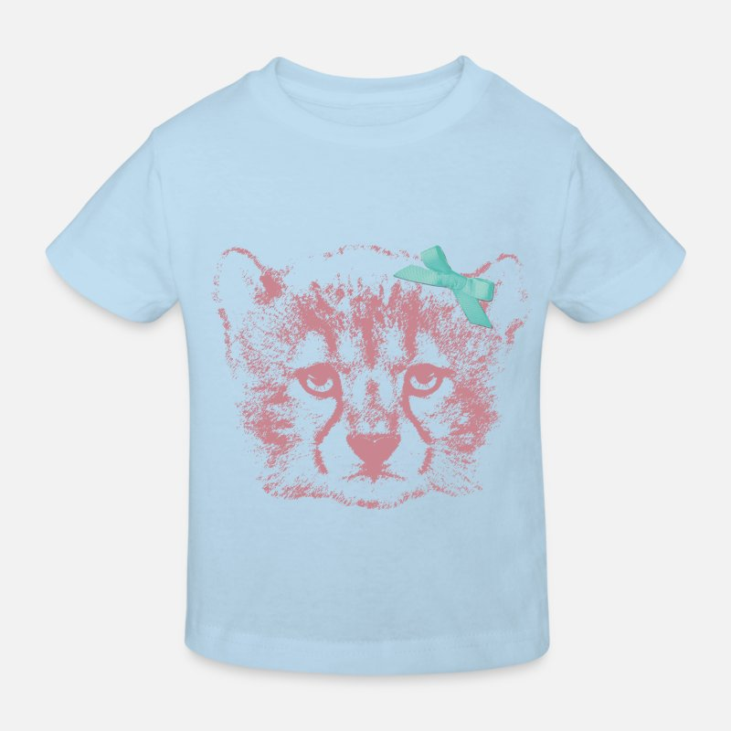 Animal Planet T-Shirts - Animal Planet Wolf - Kids' Organic T-Shirt light blue