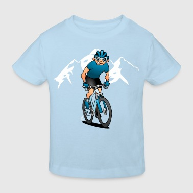 MTB - Mountain biker in the mountains - Kids' Organic T-Shirt