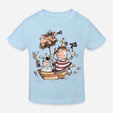 Funny farm pirates - pirate - boucaniers - T-shirt bio Enfant