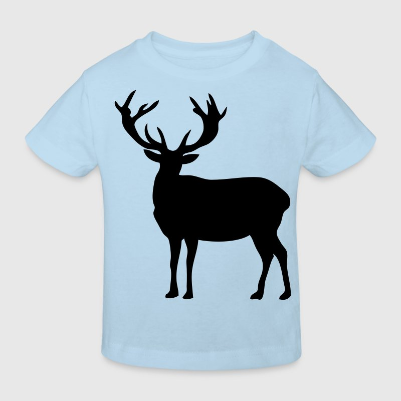 cerf deer silhouette ombre shadow2 - T-shirt bio Enfant