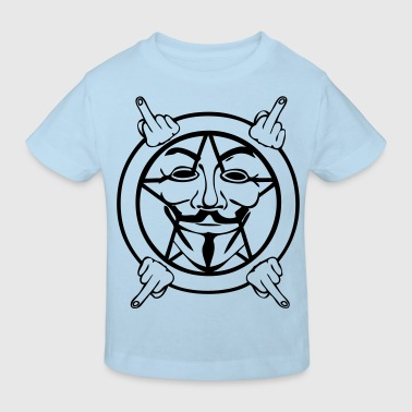 anonymous masque mask fuck4 - T-shirt bio Enfant