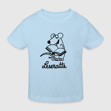 Leseratte ms - Kinder Bio-T-Shirt