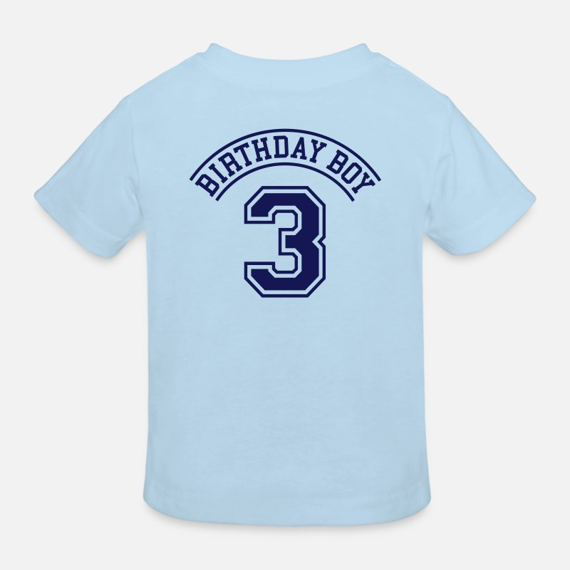 Birthday T-Shirts - Birthday boy  3 years - Kids' Organic T-Shirt light blue