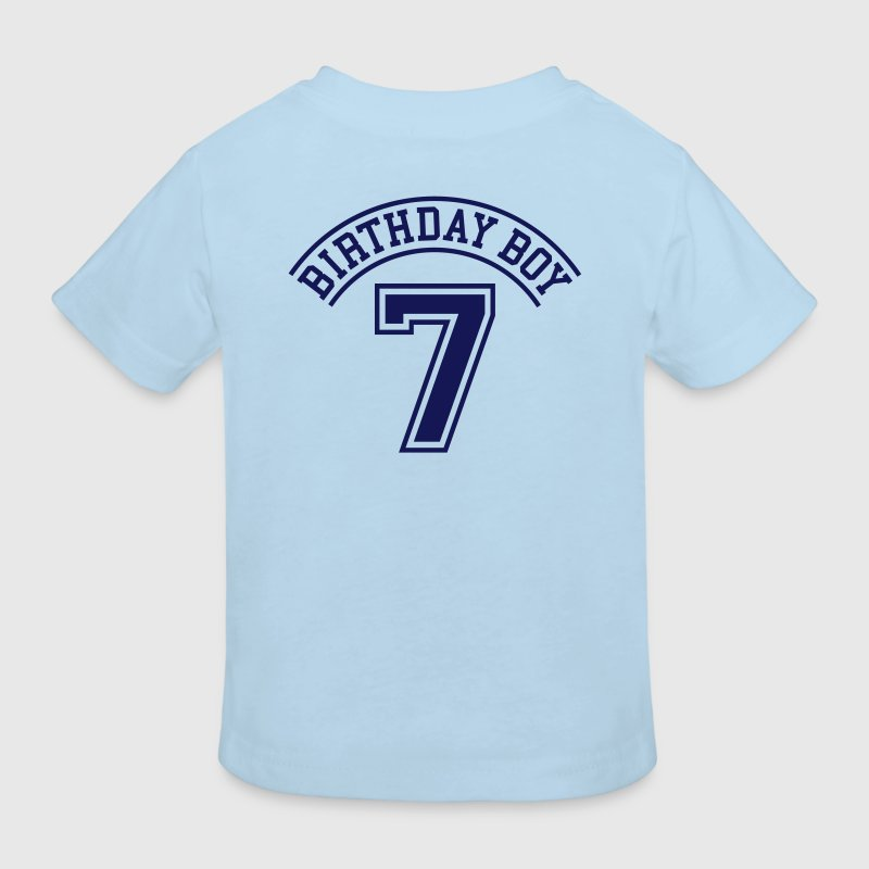Light blue Birthday boy 7 years Kids' Shirts - Kinderen Bio-T-shirt