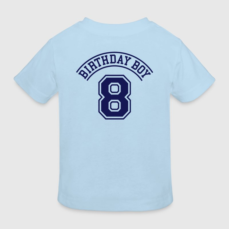 Birthday boy 8 years - Kids' Organic T-Shirt