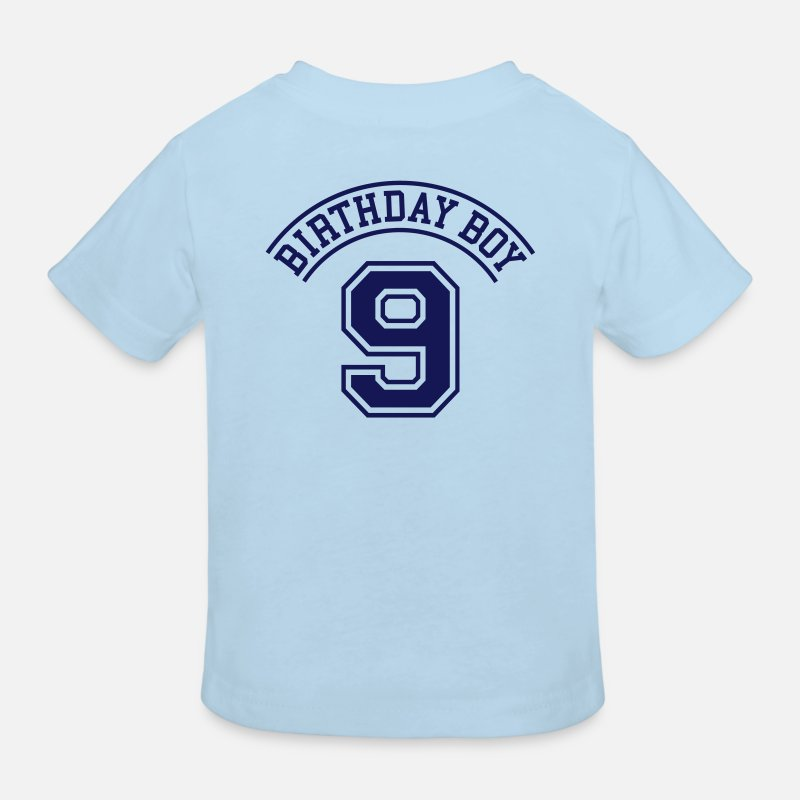 Birthday T-Shirts - Birthday boy 9 years - Kids' Organic T-Shirt light blue
