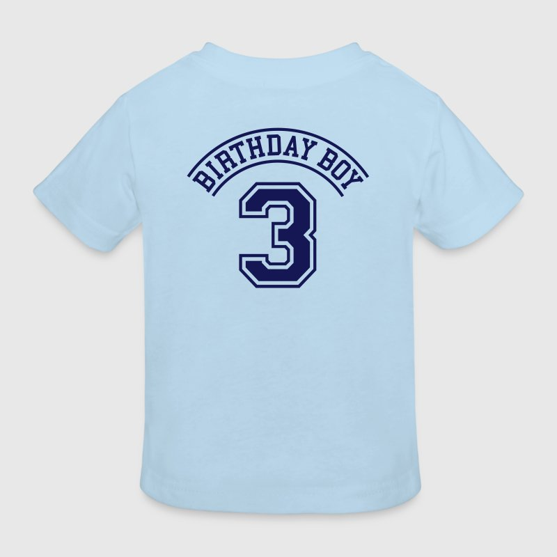Birthday boy 3 jaar (rugprint) - Kinderen Bio-T-shirt