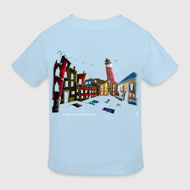 Art T-shirt Design Venice Italy - Children Fantasy Illustration - Kids' Organic T-shirt