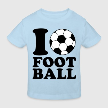 I Love Football - T-shirt bio Enfant