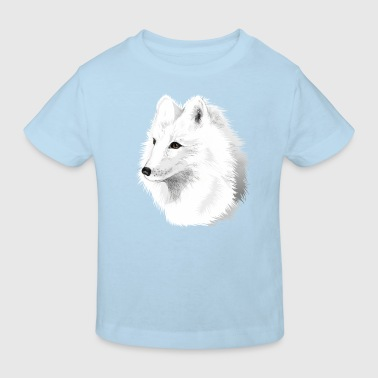 Polarfuchs -illustriert - Kinder Bio-T-Shirt