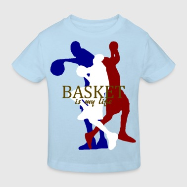 basket is my life - Kinderen Bio-T-shirt