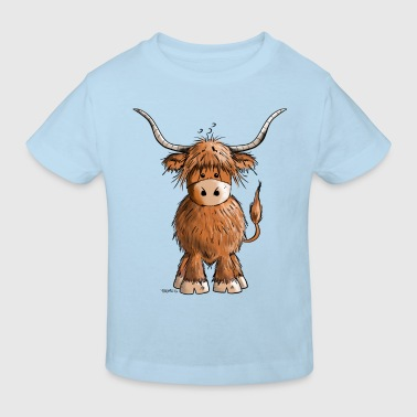 Scottish Highland Cattle - Kids' Organic T-shirt